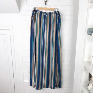 {Forever 21} Plus Size Striped Maxi Skirt
